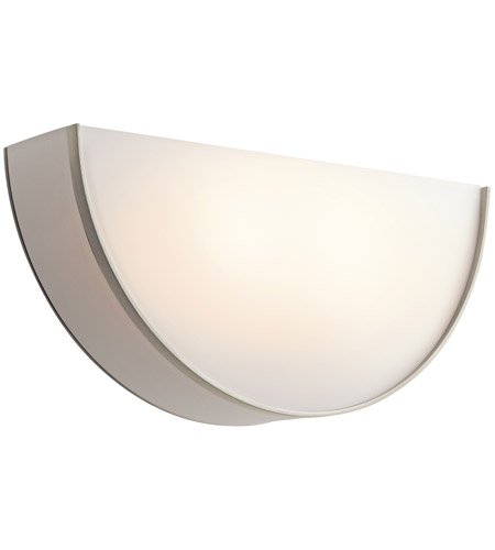Kichler Lighting Signature 2 Light Fluorescent Sconce in Brushed Nickel 10450NI photo