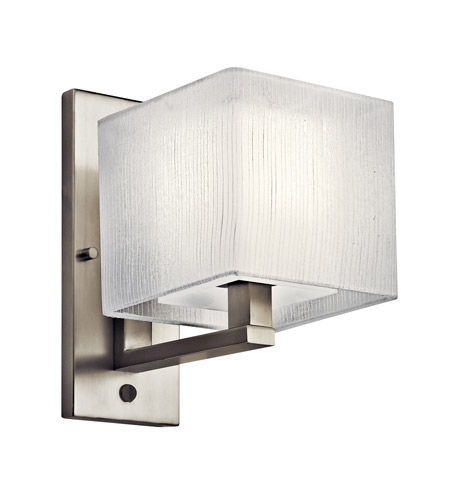 Kichler Lighting Alida 1 Light Fluorescent Sconce in Satin Nickel 10451SN