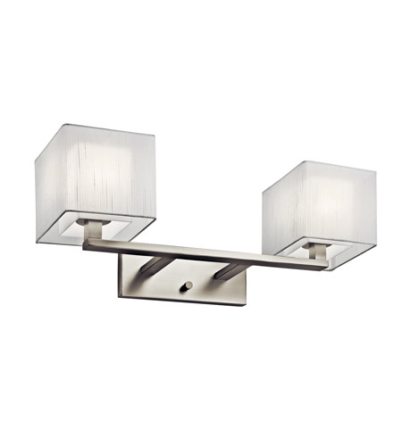 Kichler Lighting Alida 2 Light Fluorescent Bath Vanity in Satin Nickel 10452SN