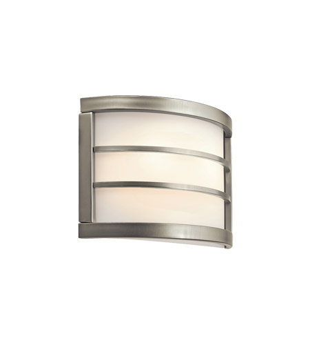 Kichler Lighting Signature 2 Light Fluorescent Sconce in Brushed Nickel 10453NI