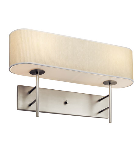 Kichler Lighting Lydon 2 Light Fluorescent Sconce in Satin Nickel 10457SN photo