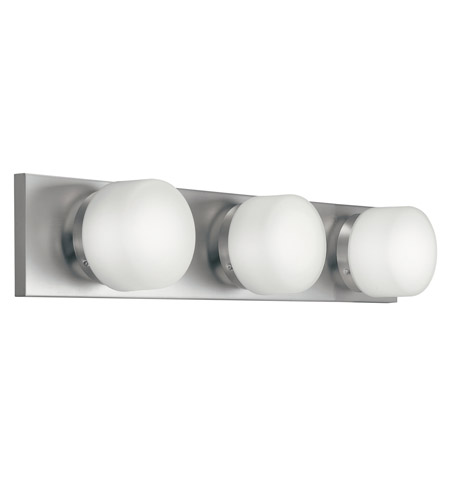 Kichler Lighting Circa 3 Light Fluorescent Bath Vanity in Brushed Nickel 10463NI