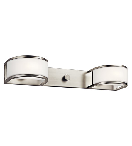 Kichler Lighting Avro 2 Light Fluorescent Sconce in Satin Nickel 10467SN