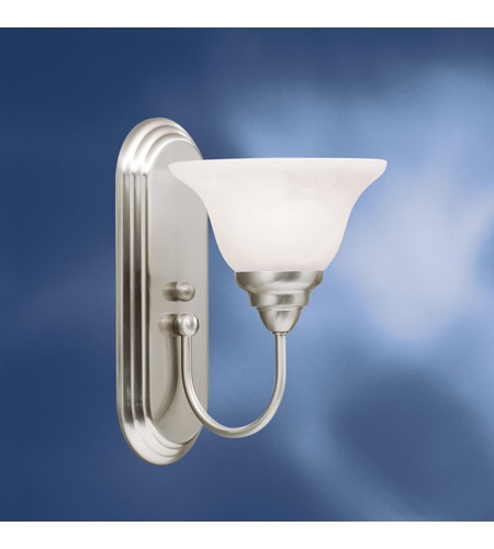 Kichler Lighting Telford 1 Light Fluorescent Sconce in Brushed Nickel 10604NI