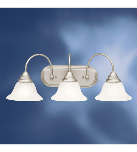 Kichler Lighting Telford 3 Light Fluorescent Bath Vanity in Brushed Nickel 10609NI