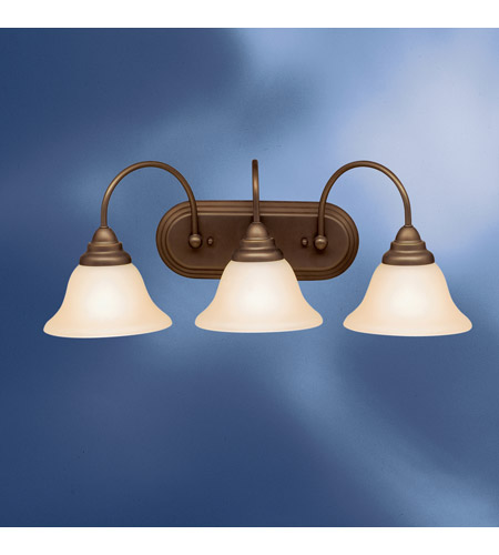 Kichler Lighting Telford 3 Light Fluorescent Bath Vanity in Olde Bronze 10609OZ photo