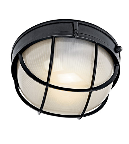 Kichler Lighting Signature 1 Light Fluorescent Outdoor Wall Lantern in Black (Painted) 10622BK