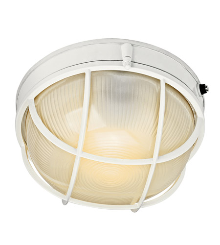 Kichler 10622WH Signature 1 Light 10 inch White Fluorescent Outdoor Wall Lantern photo