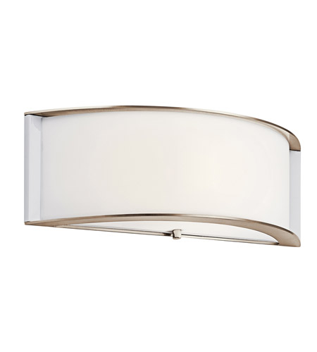 Kichler Lighting Arcola 1 Light Fluorescent Sconce in Polished Nickel 10630PN