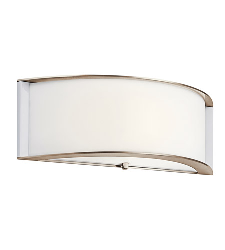 Kichler 10630PNLED Signature LED 15 inch Polished Nickel Wall Sconce Wall Light photo