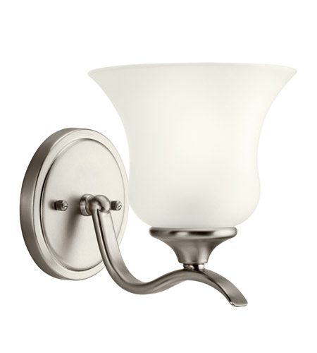 Kichler Lighting Wedgeport 1 Light Fluorescent Sconce in Brushed Nickel 10636NI