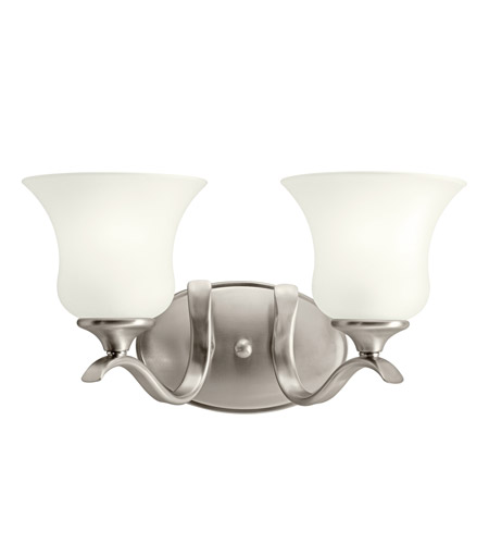 Kichler 10637NI Wedgeport 2 Light 15 inch Brushed Nickel Fluorescent Bath Vanity Wall Light photo