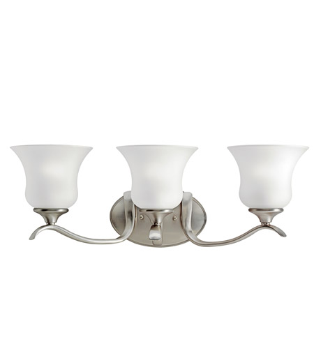 Kichler Lighting Wedgeport 3 Light Fluorescent Bath Vanity in Brushed Nickel 10638NI