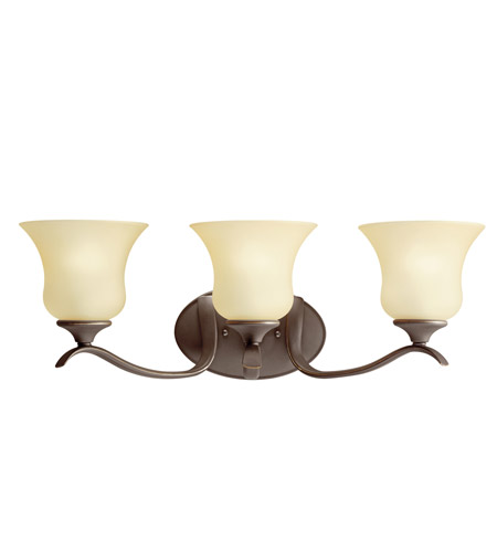 Kichler 10638OZ Wedgeport 3 Light 23 inch Olde Bronze Fluorescent Bath Vanity Wall Light photo