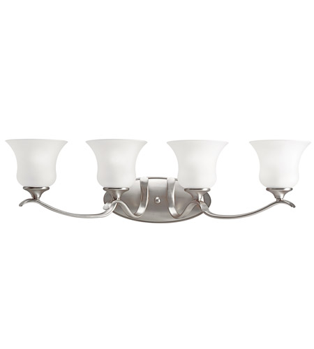 Kichler Lighting Wedgeport 4 Light Fluorescent Bath Vanity in Brushed Nickel 10639NI