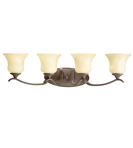 Kichler Lighting Wedgeport 4 Light Fluorescent Bath Vanity in Olde Bronze 10639OZ