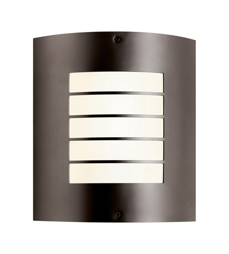 Kichler 10640AZ Newport 1 Light 11 inch Architectural Bronze Fluorescent Outdoor Wall Lantern photo
