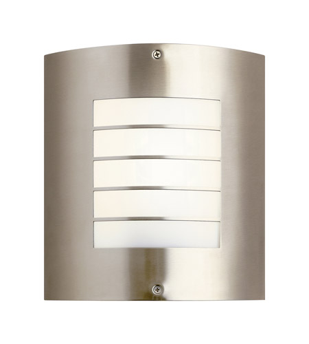 Kichler 10640NI Newport 1 Light Brushed Nickel Fluorescent Outdoor Wall Lantern photo