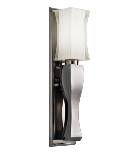 Kichler Lighting Izona 1 Light Fluorescent Sconce in Black Nickel 10654BKN