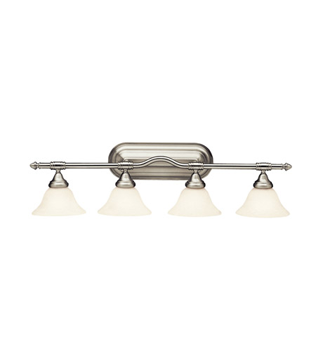 Kichler Lighting Broadview 4 Light Fluorescent Bath Vanity in Brushed Nickel 10664NI