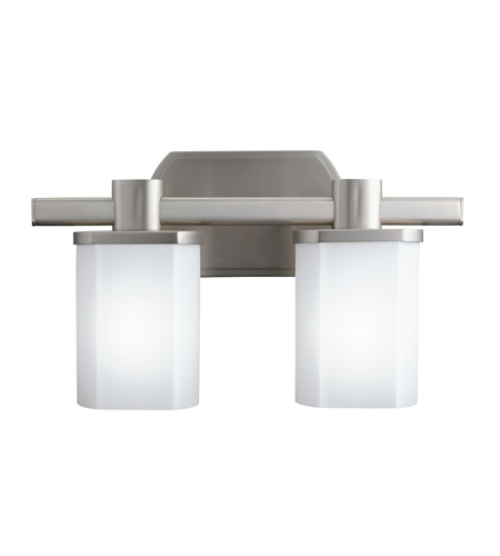 Kichler Lighting Lege 2 Light Fluorescent Bath Vanity in Brushed Nickel 10666NI photo