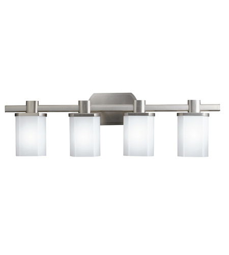Kichler Lighting Lege 4 Light Fluorescent Bath Vanity in Brushed Nickel 10668NI