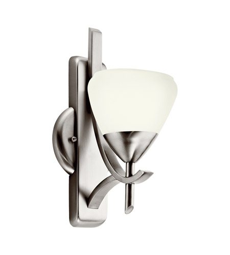 Kichler Lighting Olympia 1 Light Fluorescent Sconce in Antique Pewter 10678AP