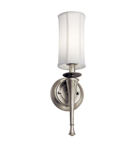 Kichler Lighting Signature 1 Light Fluorescent Sconce in Antique Pewter 10679AP photo