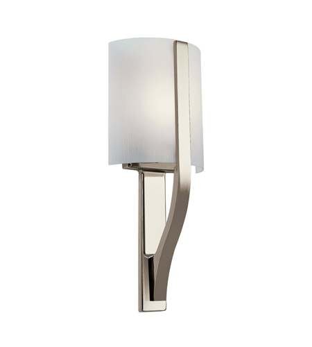 Kichler Lighting Freeport 1 Light Fluorescent Sconce in Polished Nickel 10686PN