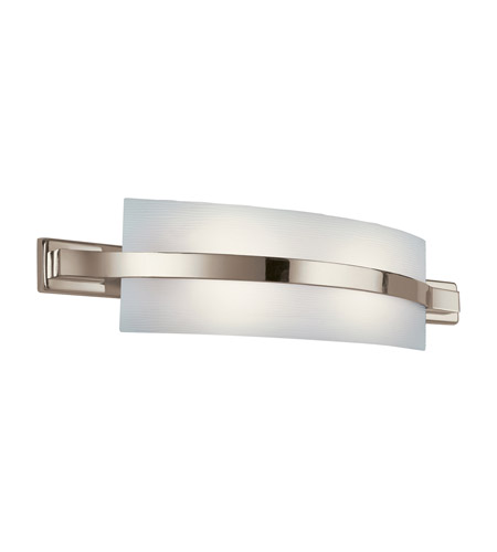 Kichler 10687PN Freeport 2 Light 28 inch Polished Nickel Fluorescent Bath Vanity Wall Light photo