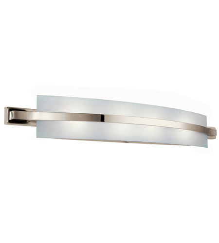 Vanity Fluorescent Lights Bathroom : Kichler Lighting Freeport 2 Light Fluorescent Bath Vanity in Polished Nickel 10688PN