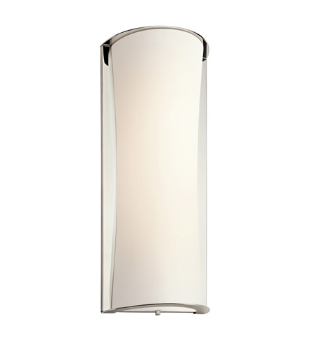 Kichler Lighting Signature 1 Light Fluorescent Sconce in Polished Nickel 10691PN