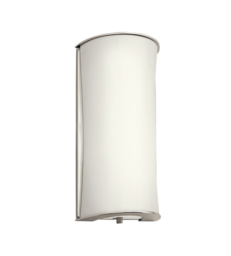Kichler Lighting Signature 1 Light Fluorescent Sconce in Polished Nickel 10693PN