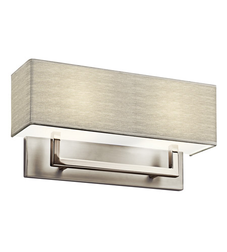 Kichler Lighting Signature 2 Light Fluorescent Sconce in Satin Nickel 10696SN