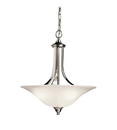 Kichler Lighting Dover 1 Light Fluorescent Pendant in Brushed Nickel 10702NI