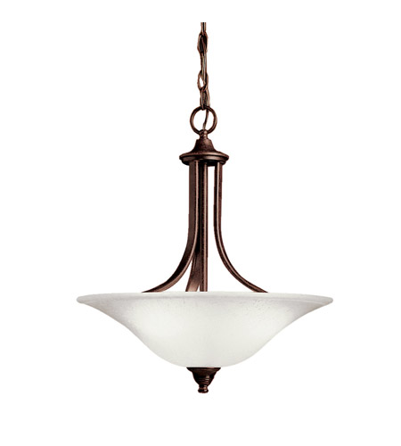 Kichler Lighting Dover 1 Light Fluorescent Pendant in Tannery Bronze 10702TZ