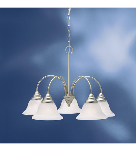 Kichler Lighting Telford 5 Light Fluorescent Chandelier in Brushed Nickel 10704NI photo