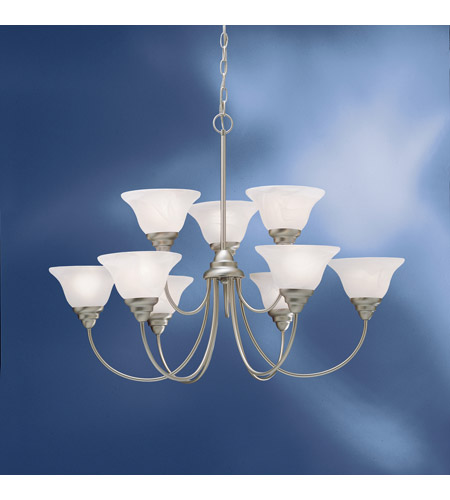 Kichler Lighting Telford 9 Light Fluorescent Chandelier in Brushed Nickel 10705NI