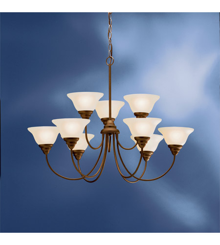 Kichler Lighting Telford 9 Light Fluorescent Chandelier in Olde Bronze 10705OZ