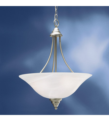 Kichler Lighting Telford 3 Light Fluorescent Pendant in Brushed Nickel 10706NI