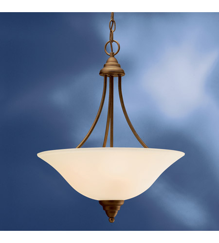 Kichler Lighting Telford 3 Light Fluorescent Pendant in Olde Bronze 10706OZ