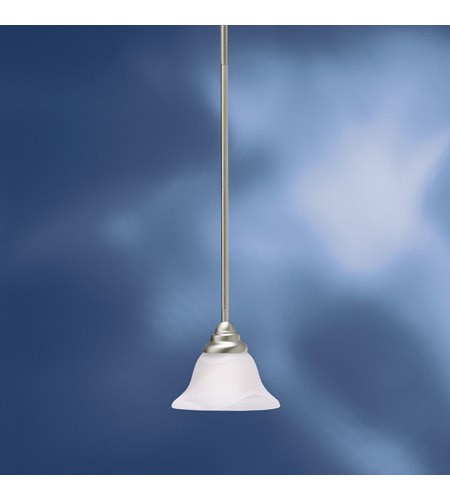Kichler Lighting Telford 1 Light Fluorescent Pendant in Brushed Nickel 10707NI