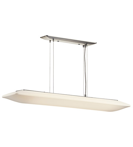Kichler Lighting Signature 2 Light Fluorescent Pendant in Brushed Nickel 10708NI
