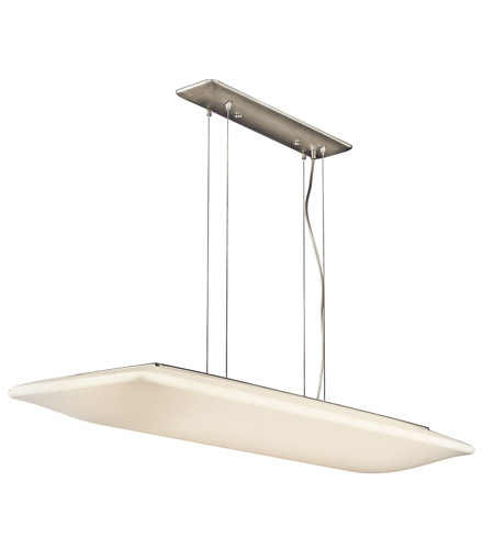 Kichler Lighting Signature 4 Light Fluorescent Pendant in Brushed Nickel 10709NI