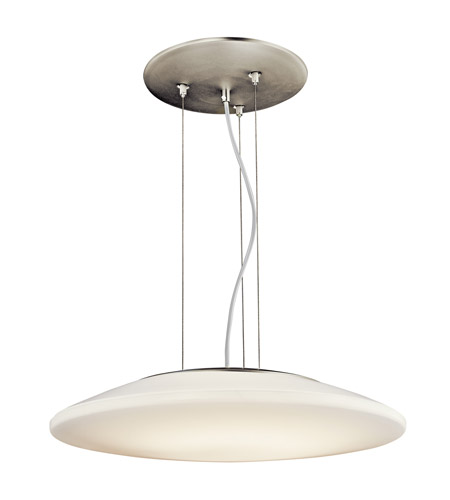 Kichler Lighting Ara 1 Light Fluorescent Pendant in Brushed Nickel 10710NI photo