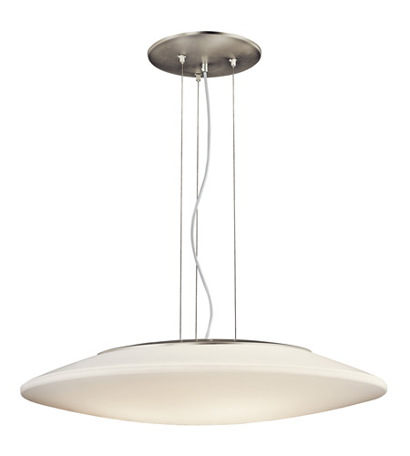 Kichler Lighting Signature 4 Light Fluorescent Pendant in Brushed Nickel 10711NI