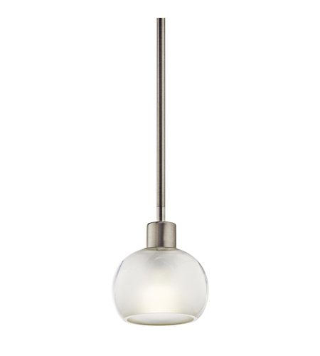 Kichler Lighting Kikori 1 Light Fluorescent Pendant in Brushed Nickel 10712NI