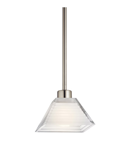 Kichler Lighting Signature 1 Light Fluorescent Pendant in Satin Nickel 10715SN photo