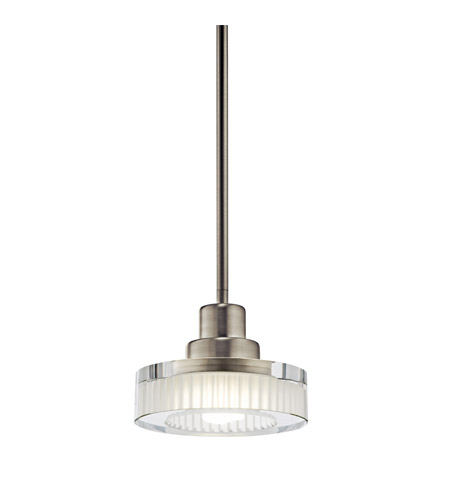 Kichler Lighting Tierra 1 Light Fluorescent Pendant in Brushed Nickel 10718NI photo