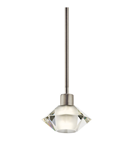 Kichler Lighting Vitri 1 Light Fluorescent Pendant in Brushed Nickel 10719NI